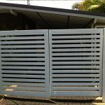 Grey Painted Gate 2—Lattice and Patios in Bungalow QLD